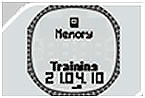 Пульсометр Sigma PC 25.10 - меню памяти