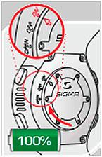 Пульсометр Sigma PC 25.10 - работа батареи